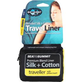 Sea to Summit Silk/Cotton Travel Liner Mummy Tapered Navy Blue